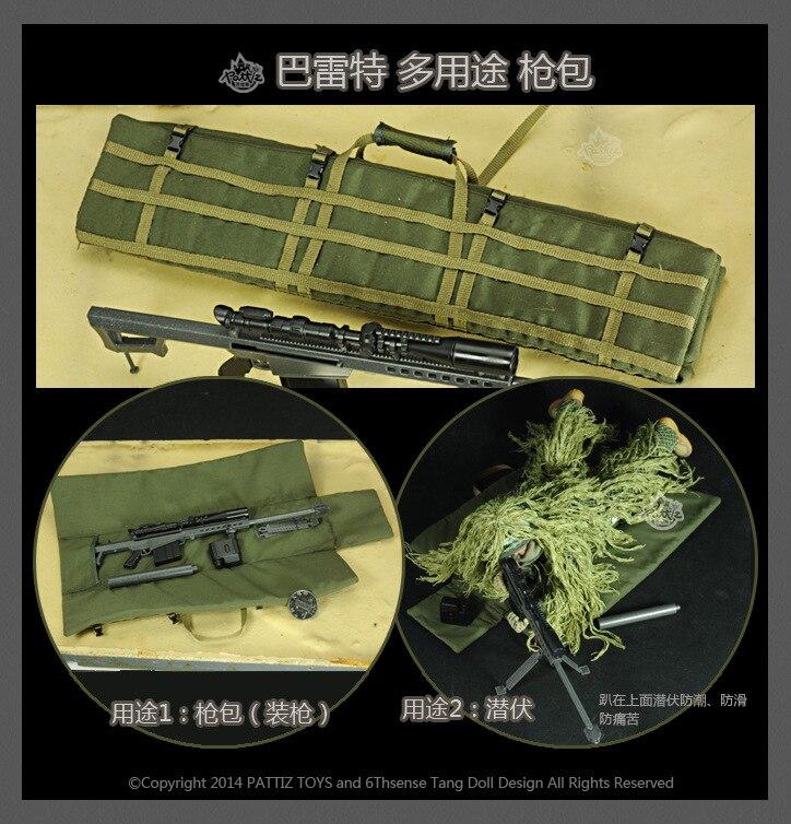 12 Pulgadas Muñeca 1/6 Soldados Accesorios 1 A 6 Mochila Barret Multifunción Pistola De Francotirador Modelo Figuras De Acción