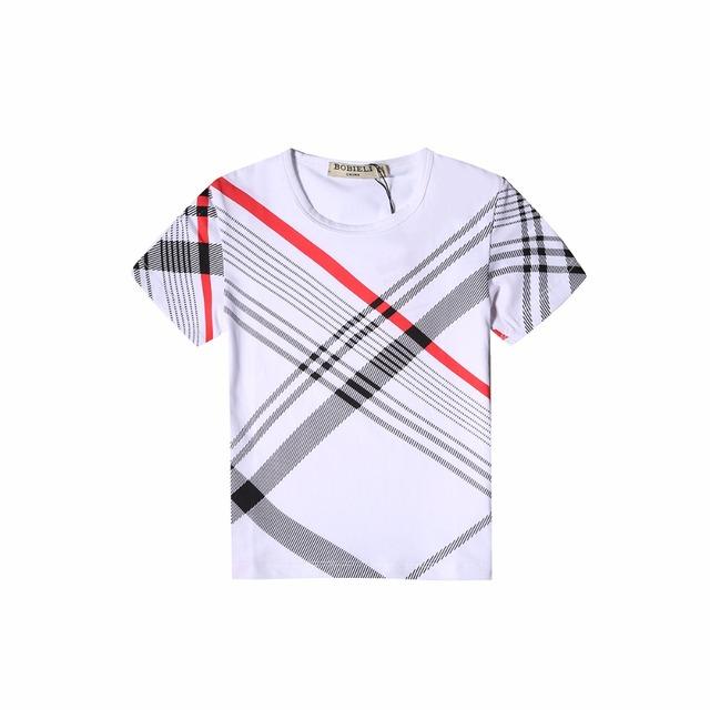 De los niños T-shirt para niños 2017 de moda de verano niños del algodón del bebé de manga corta T-shirt muchachos del niño de ropa de diseñador de la marca