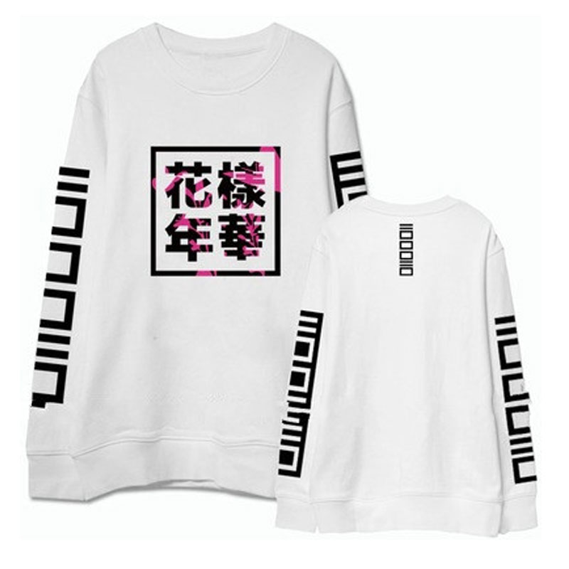 2017 Autumn Bts Young Forever Kpop Hoody Fashion Letter Printed Long