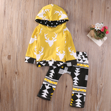 2PCS Kids Baby Boys Hoodies Warm Hooded Tops Sweatshirt Pant Outfit Clothing Set