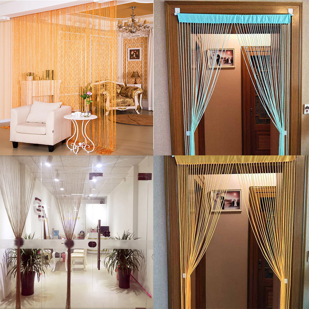 Straight Curtain String Curtains Patio Net Fringe For Door Fly Screen Windows Divider Cut To Size