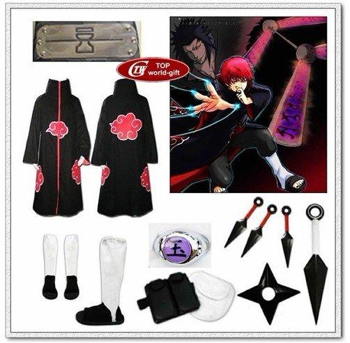 1pc 1.9cm Cool Naruto Akatsuki Sasori Yu Ring Metal Alloy Cosplay ...