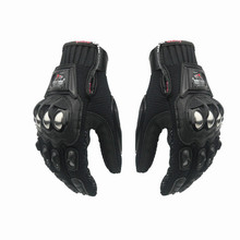 New 1 pair Motorcycle gloves racing riding Polyester & Nylon 3 colors Motorbike glove