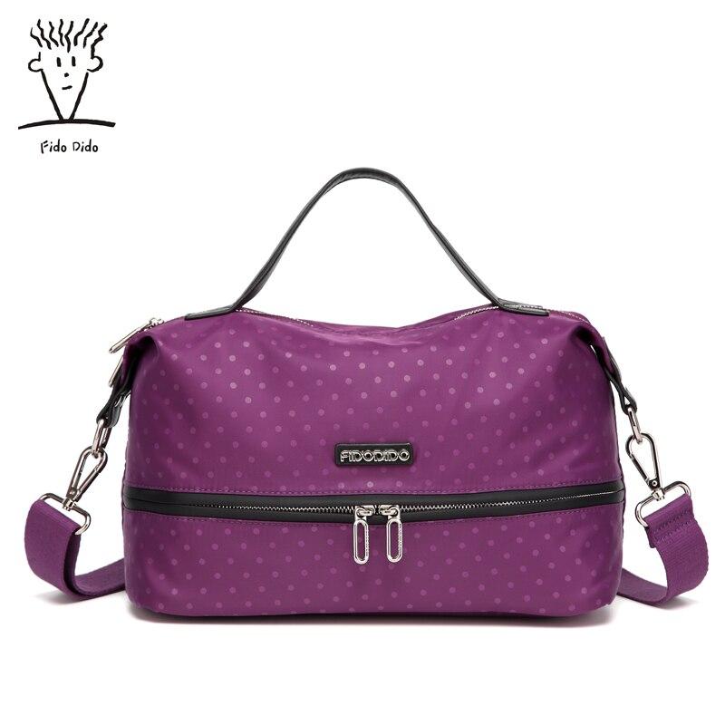 Fido Dido New Nylon Bag Women Fashion Designer Handbag High Quality Big Size Shoulder Bag Causal Travel Bag!! fido