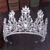 Fashion Princess Rose Gold Silver Crystal Wedding Tiaras And Crowns Sparkling Bride Hair Accessories Bridal Crown Hairbands 2019