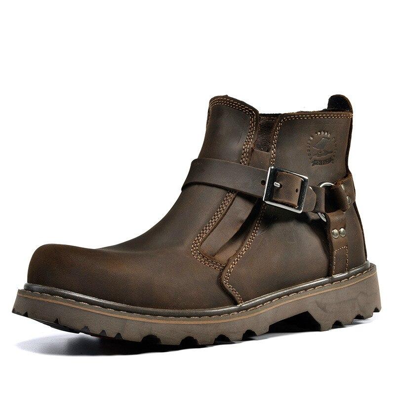 2018 Весна и осень прогулок, мужские ботинки, военные ботинки, ботинки «мартенс», кожаные ботинки.