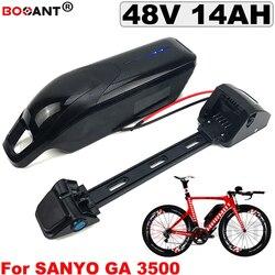 Najlepszy akumulator 48 V 14AH rower elektryczny akumulator litowo-jonowy do Bafang BBSHD BBS02 800 W 1200 W silnika elektrycznego -akumulator rowerowy 13 S 48 V