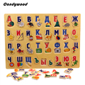 39*29 CM Grande Quebra-cabeças De Madeira Enigma Do Alfabeto Russo Alfabeto Compreender Tabuleiro Crianças Primeiros Brinquedos Educativos