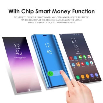 Mirror Phone Case For Samsung Galaxy S9 S9 Plus Flip Case Clear Smart Awaken View Stands Cover Case For Samsung S9 Plus