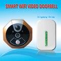 Беспроводной Wi-Fi Видео-Дверной Звонок Просмотра для Умный Дом Безопасности Видеодомофон через Мобильный Телефон Приложение Дистанционного Управления