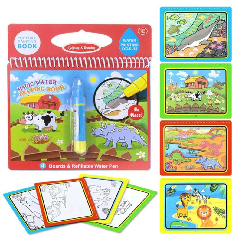 Opakovatelné zbarvení Magic Vodní malba Kniha Kid Doodle Písmena - Učení a vzdělávání - Fotografie 5