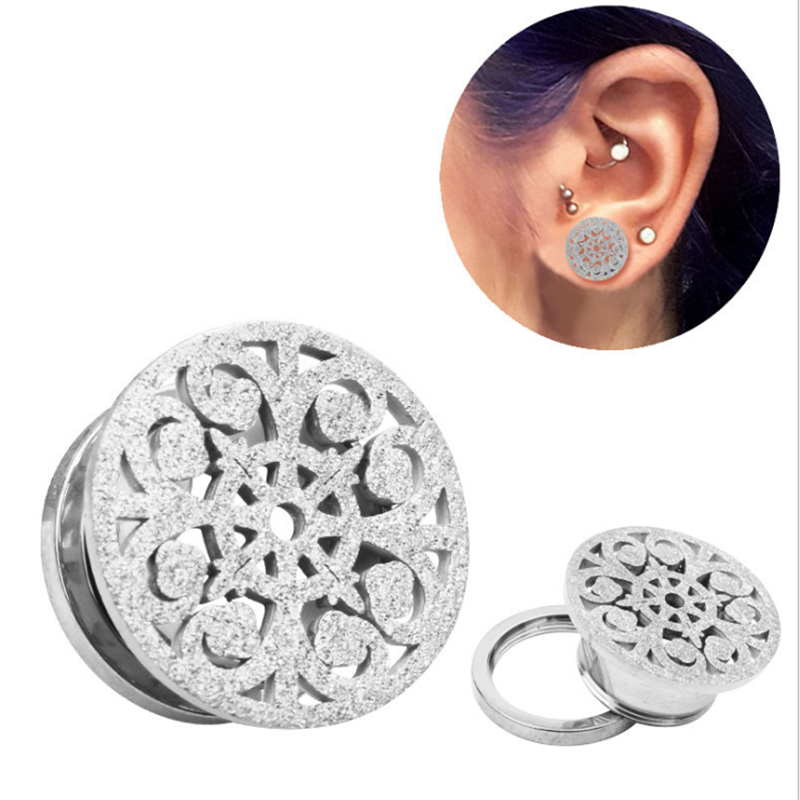 Jewelry & Accessories Original 2pcs New Arrival Ear Plugs Tunnels Sexy Body Jewelry Stainless Steel Gold Silver Hollow Flower Fashion Piercing Ear Expansions Jewelry Sets & More
