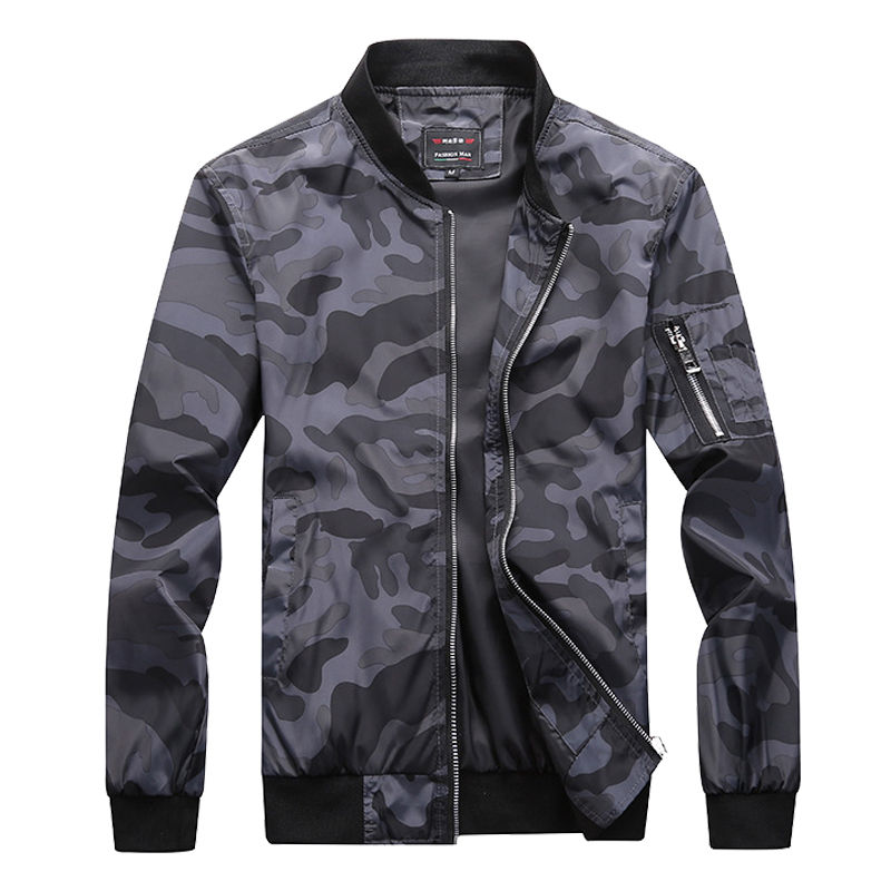 M-7XL 2019 New Autumn Men's Camouflage Jackets Male Coats Camo Bomber Jacket Mens Brand Clothing Outwear Plus Size M-7XL