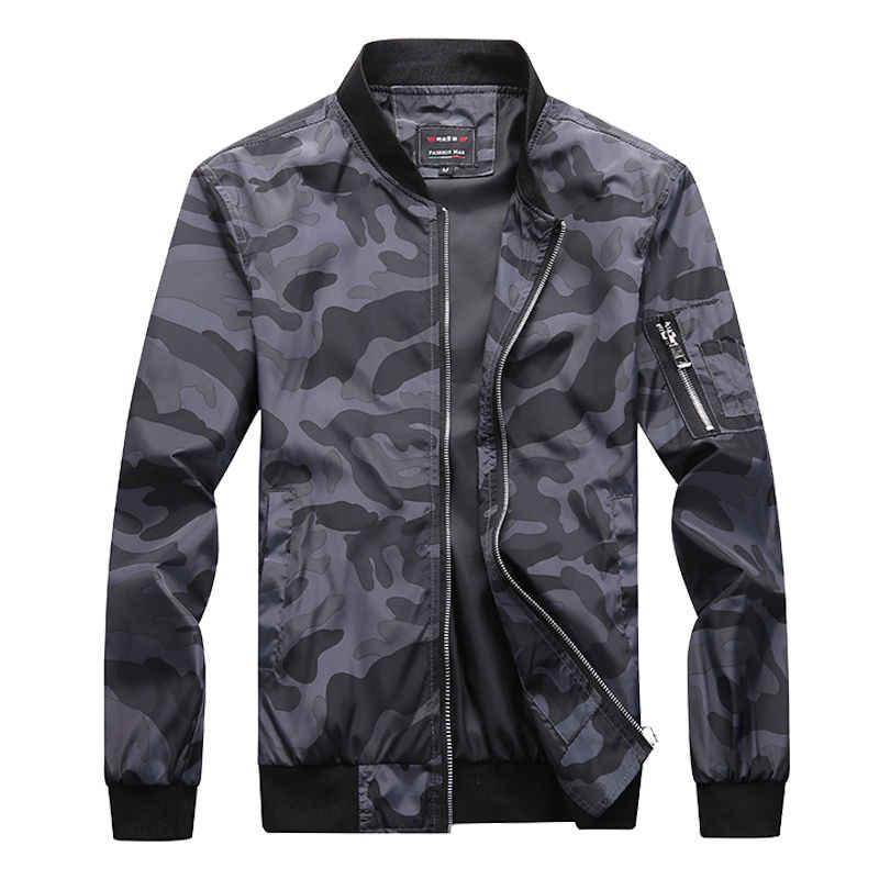 M-7XL 2019 Новый Осень Для мужчин камуфляж куртки мужской пальто камуфляж Курточка бомбер Для мужчин s брендовая одежда верхняя одежда плюс Размеры M-7XL