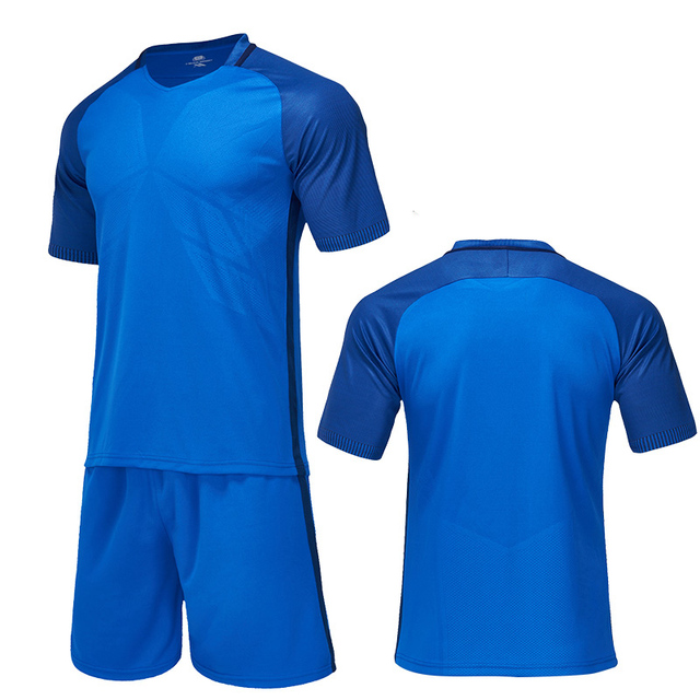 reputable site 097d7 37949 US $13.01 19% OFF|Blank Football jerseys Football uniform men Soccer  Training Suit Running Sportswear Tracksuit Soccer Jersey & shorts  Customized-in ...