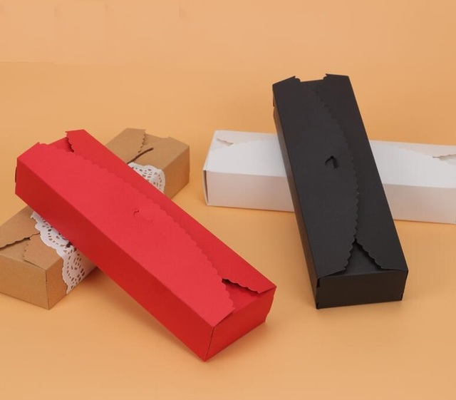 30pcs long black red kraft paper craft box gift packing cardboard