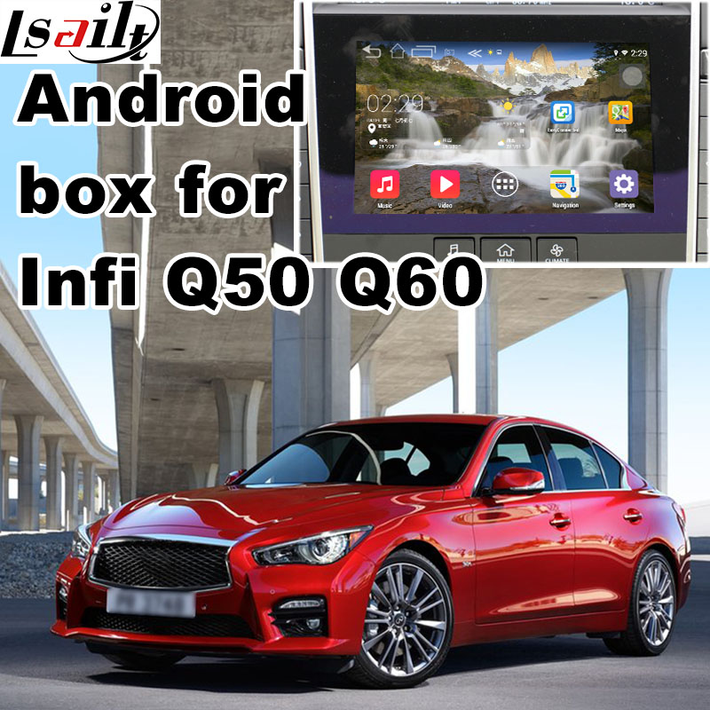 Android 6.0 GPS navigation box for Infiniti Q50 Q60 video interface box mirror link yout ...