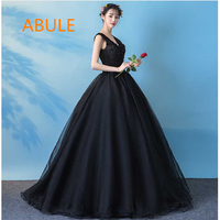 ABULE Quinceanera Dresses 2018 V neck lace up illusion beads ball gown prom dress Gown 15 Years Layer Tulle Custom sizes