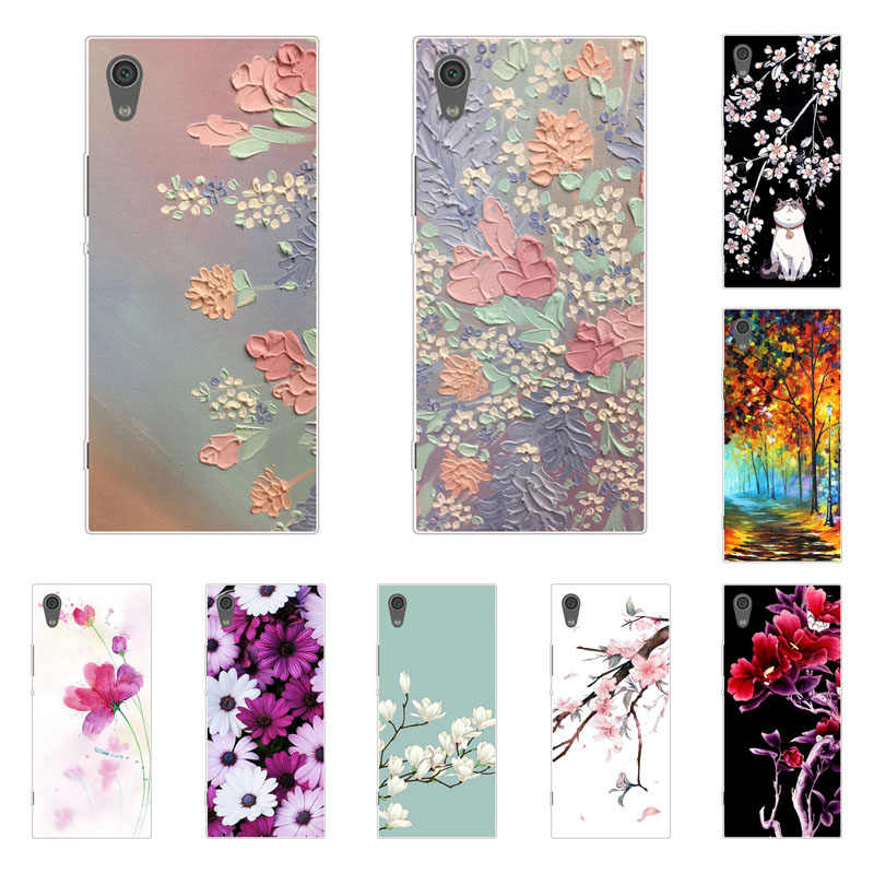 For Sony Xperia Xa1 Plus Case,Silicon Full flower Painting Soft TPU Back Cover for Sony Xperia Xa1 Ultra protect Phone bags