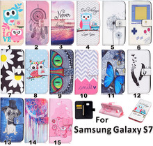 PU Leather + Silicone Wallet Cover for Samsung S7 phone Case