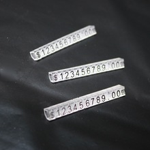 20Pieces/Lot 45x5xmm Jewelry Watches Garment Price Card Tags