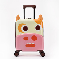 18 Inch New 3D Cartoon Cute Animal Kids Abs +PC Rolling Luggage Spinner Children Boarding Suitcases Trolley Travel Bag Student