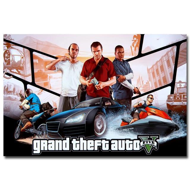 Шелковый Плакат Гобелен Grand Theft Auto V Вариант 8