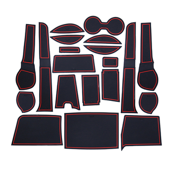 for Toyota Fortuner SW4 2016 2017 2018 Anti-Slip Rubber Cup Cushion Door Groove Mat 20Pcs Car Accessories Car Styling Stickers image