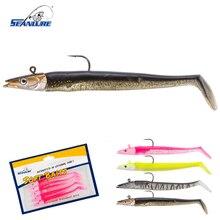 Seanlure NEW Lead Head Glow Bait 11cm 16g 5pcs/Pack Artificial Bait Single Hook Swimbait PVC Soft lure Fishing Lure  hook hooks