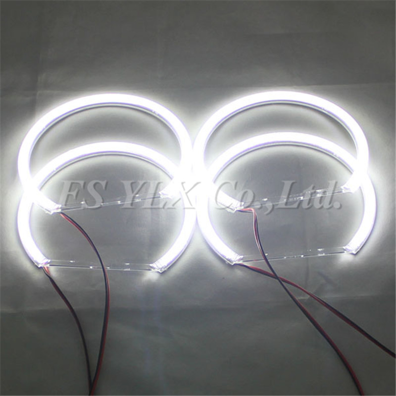 ФОТО 2sets 120 SMD LED ANGEL EYES HALO RINGS kit for bmw e46 projector SMD LED angel eyes for BMW E38/E36/E39/E46 projector 4x131mm