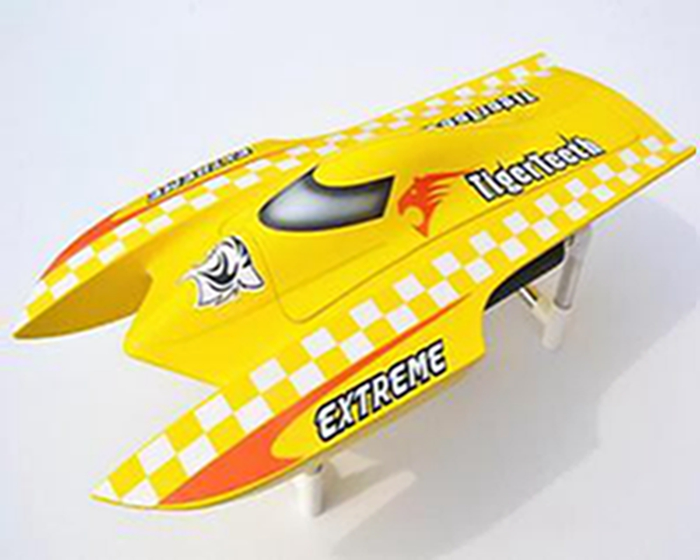 E22 PNP Tiger Teeth Fiber Glass Racing Speed Boat W/2550KV Brushless Motor/ 90A ESC Catamaran RC Boat yellow e22 rtr tiger teeth fiber glass racing speed boat w 2550kv brushless motor 90a esc remote control catamaran rc boat blue