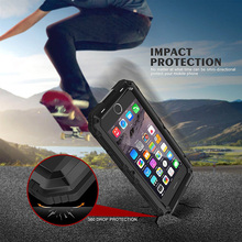30pcs/lot Doom Armor IP68 Waterproof Shockproof Heavy Duty Hybrid Tough Rugged Metal Case for iPhone X 8 7 6 6s Plus XR XS Max