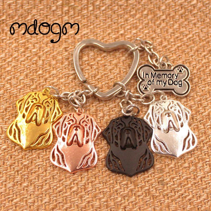 Clumber Spaniel Dog Animal Gold Silver Plated Metal Pendant Keychain For Bag Car Women Men Girls Boys Love Jewelry K160