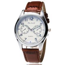 Fashion Men Leather Band Watches Sport Analog Quartz Date Wrist Watch Minimalist Belt Business Hodinky Relogio Masculino XL60