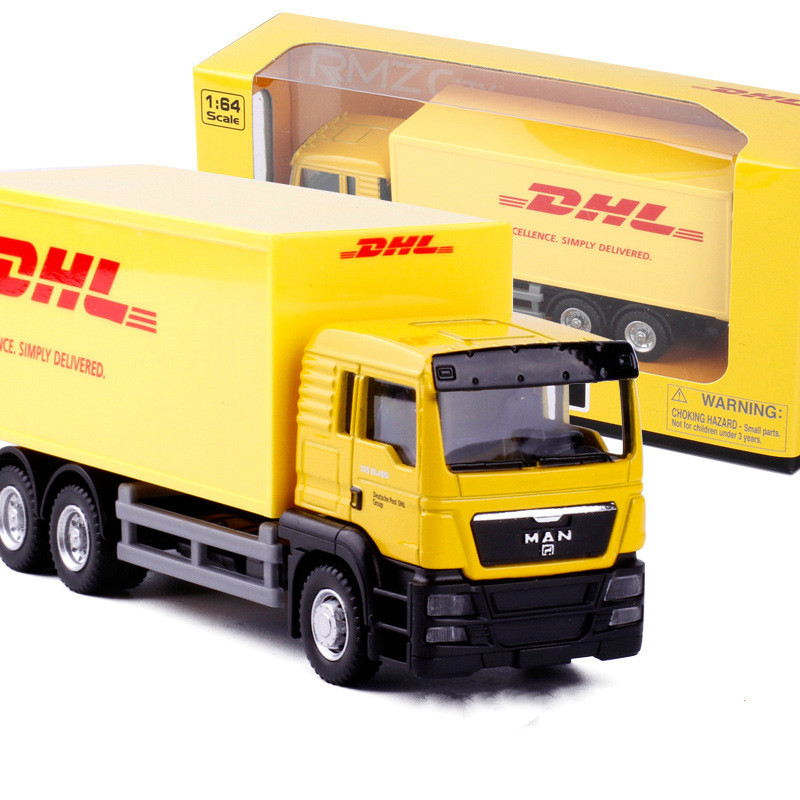1:64 DHL Container Vehicle Alloy Vehicles Transport Play Car Model Toy Kids Gifts