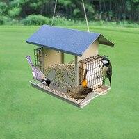 Bird feeder outdoor balcony garden waterproof house automatic feeding trough feeding bird supplies ZP1219952