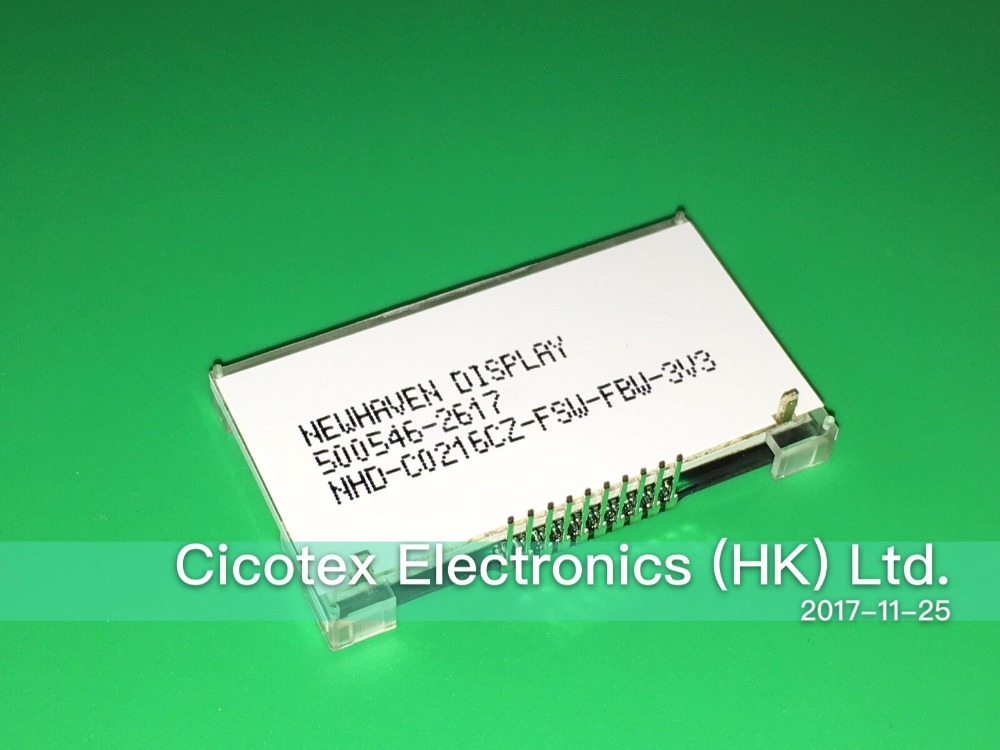 5pcs lot NHD C0216CZ FSW FBW 3V3 LCD COG CHAR 2X16 WHT TRANSFL NEWHAVEN DISPLAY