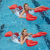 Inflatable Shrimp Lobster Pool Float Swim Ring Pool Inflatable Pool Toys Boias Piscina Inflatables Pool Party Toys Adult Kids