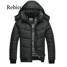 цены 2019 Winter Men Jackets New Arrival Male Cotton Thick Warm Parkas Casual Outwear Windbreaker Mens Hoodies