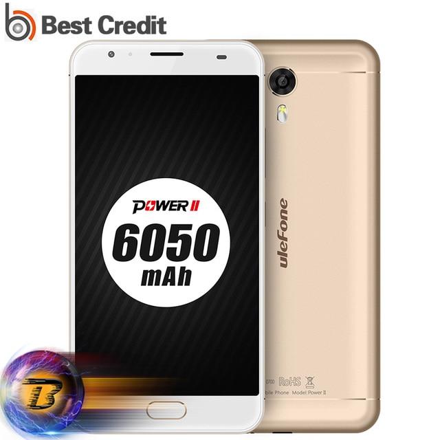 "Ulefone Power 2 4G Mobile Phone 5.5"" FHD MTK6750T Octa Core Android 7.0 4GB+64GB 13MP 6050mAh Fingerprint 9V/2A QC Smartphone"