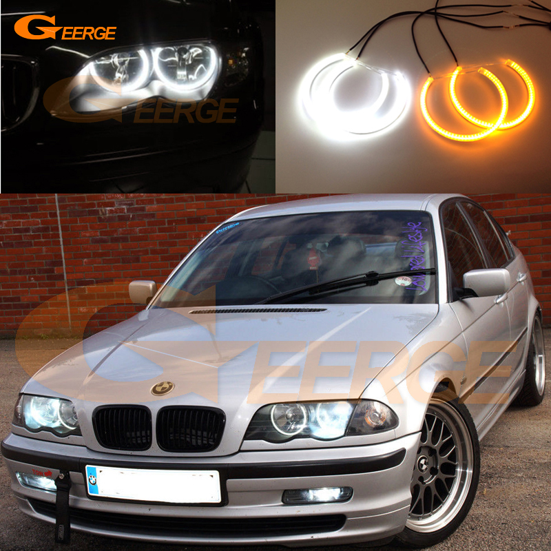 For BMW E46 3 series Pre facelift 1998-2001 Excellent Ultra bright Dual Color Switchback smd LED Angel Eyes kit DRL win 02 5зеркало серебр знак зодиака скорпион
