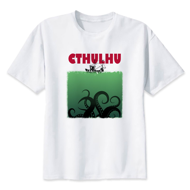 cthulhu t shirt new man death note tee shirts Short sleeve summer print funny Men T-shirt anime men tops  Free shipping