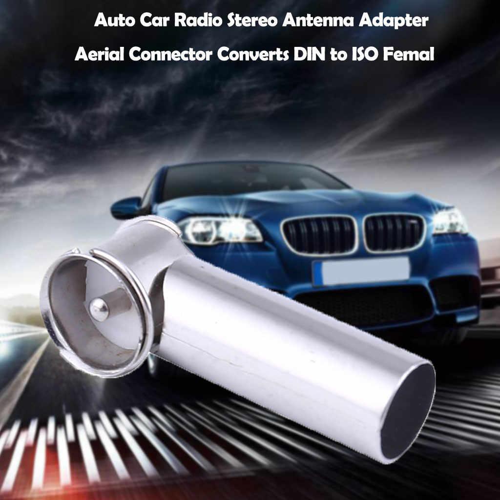 Fm/am universal novo carro auto rádio estéreo antena adaptador conector converte din para iso
