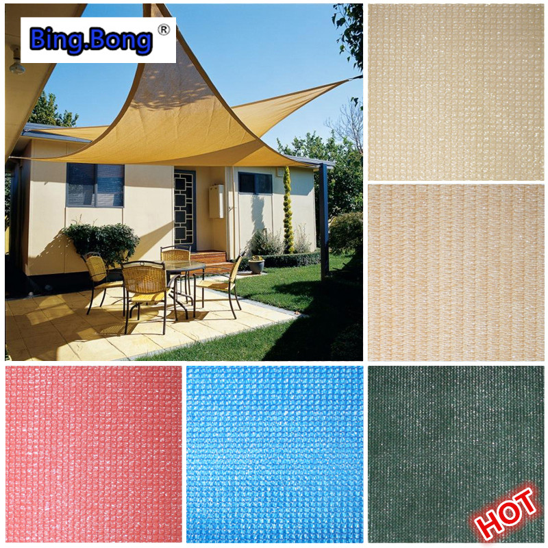 Custom Sun Shade Sail HDPE Mesh Outdoor UV Waterproof Triangles Square Awning 11m Pool Shading Net Gazebo Canopy Garden Toldo In Sails Nets From
