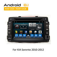 2 Din Android Car dvd Octa Core Player Support BT 3G Wifi Touch Screen Navigation MP3 MP4 MP5 For KIA Sorento R 2010 2011 2012