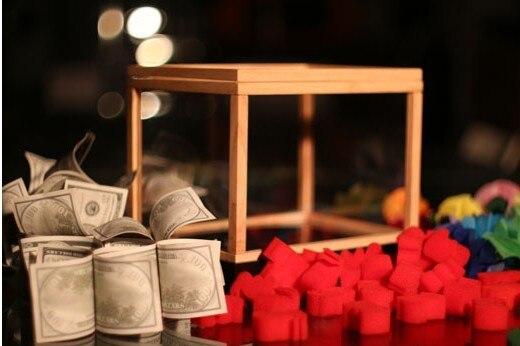 Tours de magie Illusion tirelire, merveille Box, boîte vide apparaissant cadeaux scène magique