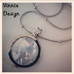 Vinnie Design Jewelry 33mm Gaudi Shell Coin Moneda Pendant Necklace