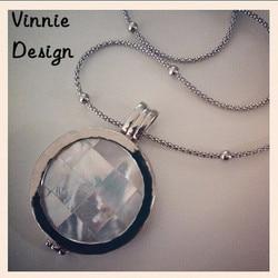 Vinnie Design Jewelry 33mm Gaudi Shell Coin Moneda Pendant Necklace