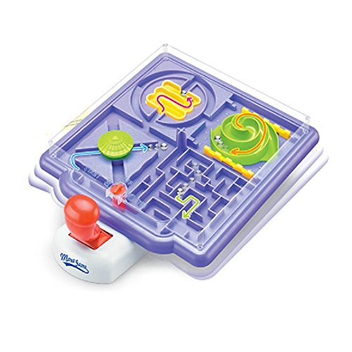 4 In 1 Maze Labyrinth Marble Maze Puzzle Game 3D Maze Racer Handheld Game Race Course Timing Birthday Holiday Present 3d labyrinth magic rolling globe ball marble puzzle cubes brain teaser game sphere maze