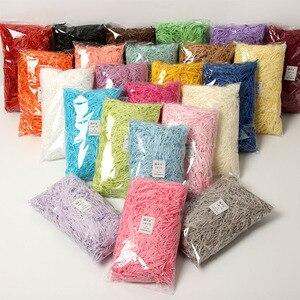 Image 2 - 100g צבעוני מגורר להתקמט נייר אריזת מתנה מילוי קרפט המפלגה קרפט נייר קישוט מעשי סוכריות קופסות DIY אריזה